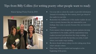 Billy Collins's Tips for Writing Poetry