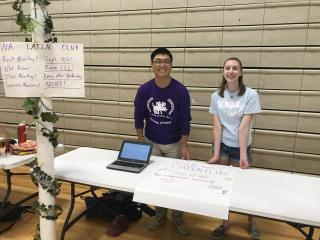 Latin Club Officers at the Activities Fair