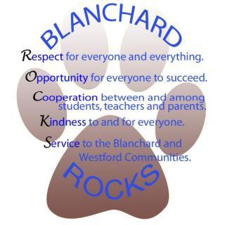 Blanchard ROCKS! logo